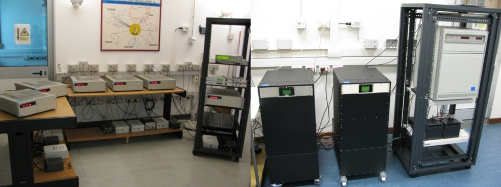 "INRIM Time and Frequency Laboratory ""Clocks Room"" (Cesium's on the left, Masers on the right)"
