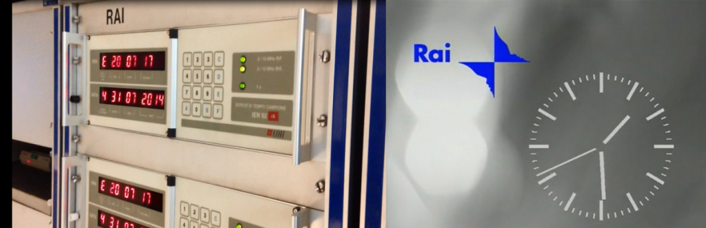 Devices at INRIM generating the SRC code (on the left) and the SRC representation as broadcast by RAI TV channels (on the right)