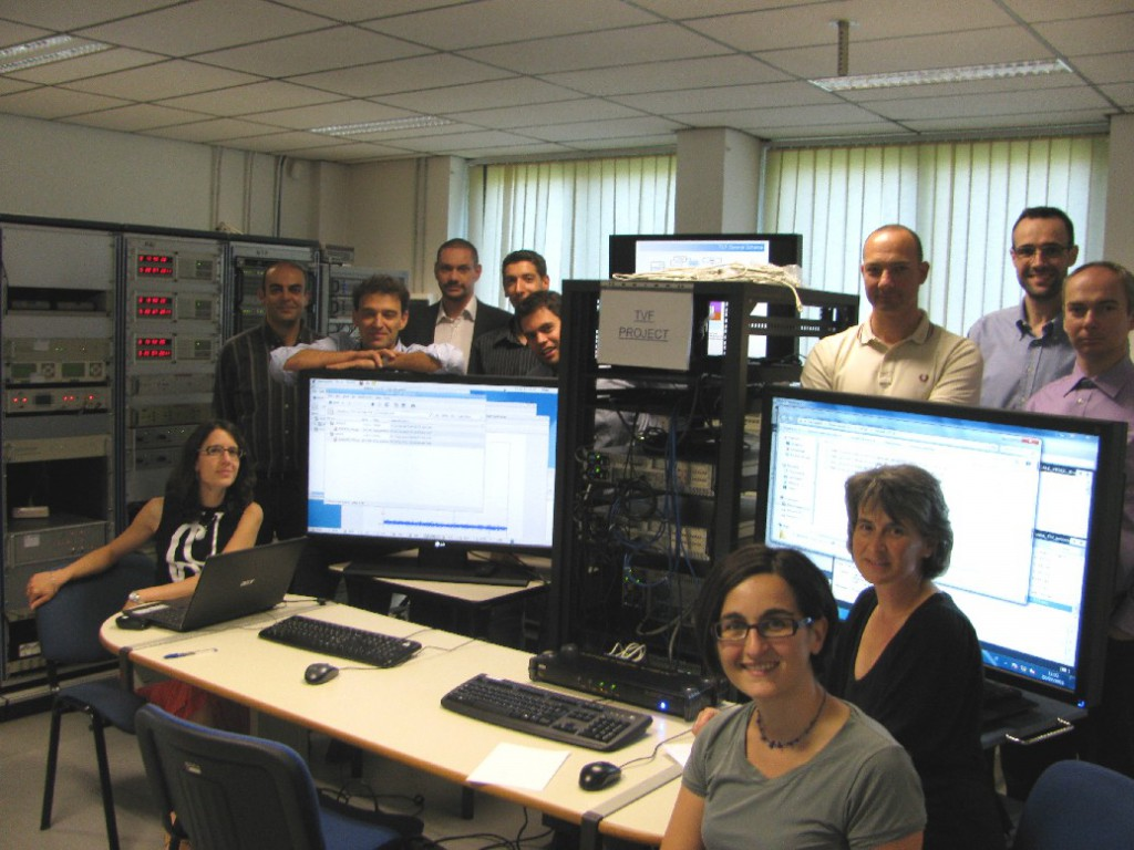 Galileo Time Validation Facility (TVF) staff operating at INRIM Time and Frequency Laboratory